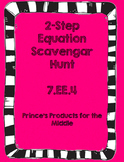 2-Step Equation Scavenger Hunt     7. EE.4