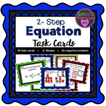 2 - Step Equation Task Cards