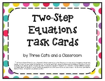 2-Step Equation Task Cards