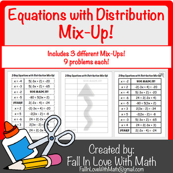 2-Step Equation with Distribution Mix-Up!