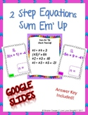 2 Step Equations Google Slides