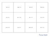 Memory Game - 2 Step Equations (Intermediate)