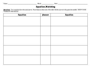 2-Step Equations Matching