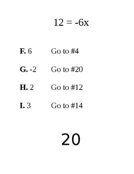 2 Step Equations Problem Trail