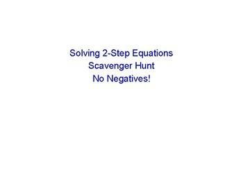 2-Step Equations Scavenger Hunt - No Negatives