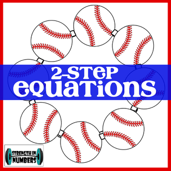 2-Step Equations Self Checking Activity Baseball Wreath