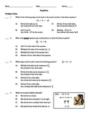 2-Step Equations - TEST Prep (50 Questions)