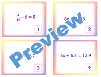 2-Step Equations Task Cards