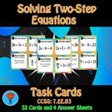 2 Step Equations Task Cards