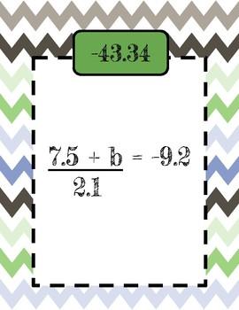 2 Step Equations w/Decimals Scavenger Hunt