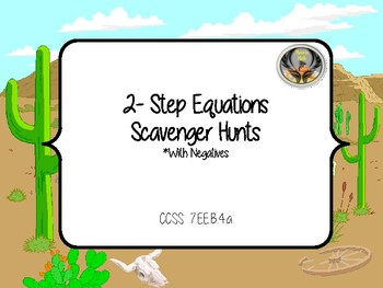 2-Step Equations with Negatives Scavenger Hunt