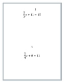 2 Step Equations with Rational Coefficients Round Robin