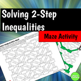 Two Step Inequalities Maze Activity