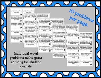 2 Step Problem Solving- Addition and Subtraction Word Problems within 1000