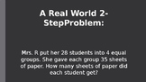 2 Step Word Problem Example PowerPoint