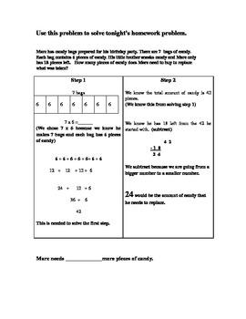 2 Step Word Problem Homework Handout