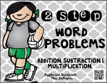 2 Step Word Problems-Volleyball (3.OA.D.8)