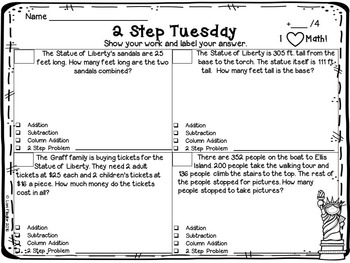 2 Step Word Problems- FREEBIE by Lori Flaglor | Teachers Pay Teachers