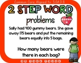 2 Step Word Problems 3rd Grade 3.OA.D.8