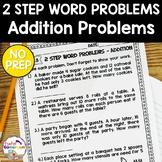 2 Step Word Problems Addition Worksheet