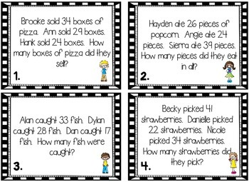 2 Step Word Problems: Addition and Subtraction with Regrouping and Borrowing