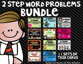 2 Step Word Problems BUNDLE (3.OA.D.8)