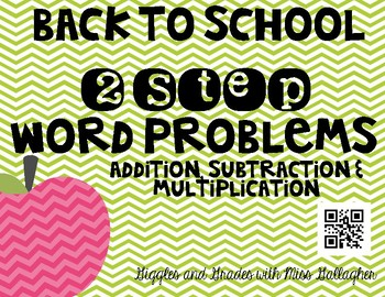 2 Step Word Problems-Back to School(3.OA.D.8)