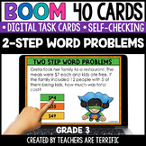 2-Step Word Problems Boom Cards Gr. 3 | Distance Learning