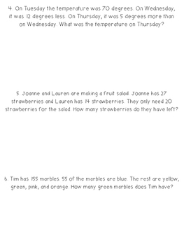 2 Step Word Problems - Common Core Aligned