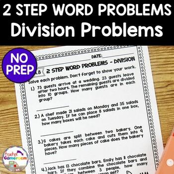 2 Step Word Problems Division Worksheet