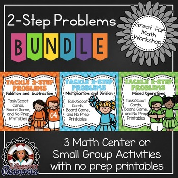 2-Step Word Problems Game Bundle