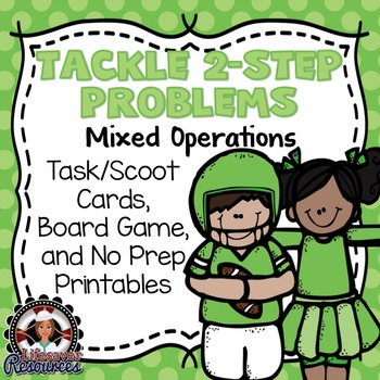 2-Step Word Problems Game Mixed Operations