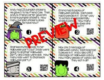 2 Step Word Problems-Halloween (3.OA.D.8)