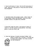 2 Step Word Problems Halloween