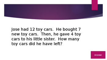 2 Step Word Problems Jeopardy, All Operations