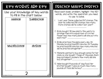 2 Step Word Problems: Mini Book & Task Cards (3.OA.D.8)