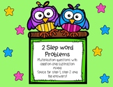 2 Step Word Problems - Mixed Multiplication and Adding or