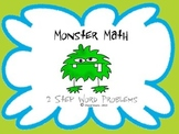 2 Step Word Problems - Monster Math Game