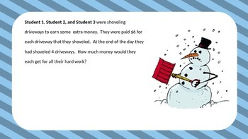 2 Step Word Problems - Snowed In Theme