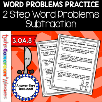 2 Step Word Problems Subtraction Worksheet
