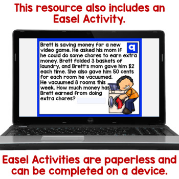 2-Step Word Problems Task Cards