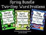 2-Step Word Problems with Bar Models SPRING Bundle- 3 Units Math Problem Solving