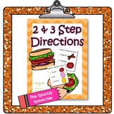 2-Step and 3-Step Directions w/ Visuals: Sandwich Shop