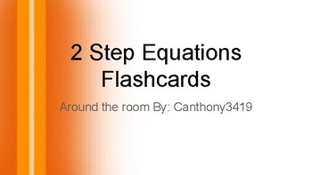 2 Step equation around the room