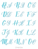 2 Styles of Capital Letters in Brush Lettering