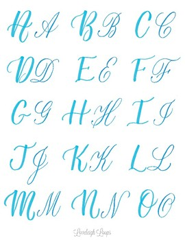 2 Styles Of Capital Letters In Brush Lettering By Loveleigh