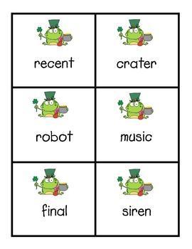 2 Syllable Spring KABOOM Word Games