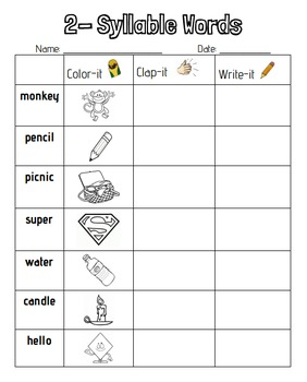 2-Syllable Words