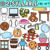 2 Syllable Words Clip Art • Speech Therapy/Phonics • SpeakEazySLP