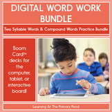 2-Syllable Words (Closed Syllables) - Digital Phonics Activities | BOOM Cards™
